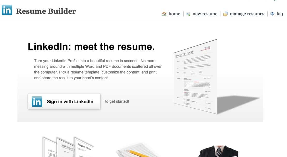 resume builder  faire un cv avec son profil sur linkedin